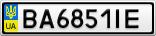 Номерной знак - BA6851IE