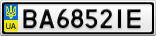 Номерной знак - BA6852IE