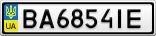 Номерной знак - BA6854IE