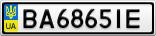 Номерной знак - BA6865IE
