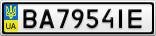 Номерной знак - BA7954IE