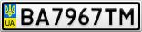 Номерной знак - BA7967TM