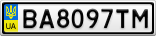 Номерной знак - BA8097TM