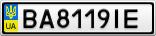 Номерной знак - BA8119IE