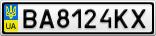 Номерной знак - BA8124KX