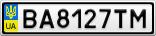 Номерной знак - BA8127TM