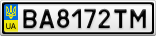 Номерной знак - BA8172TM
