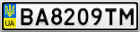 Номерной знак - BA8209TM