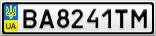 Номерной знак - BA8241TM