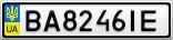 Номерной знак - BA8246IE