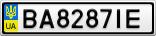Номерной знак - BA8287IE