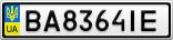 Номерной знак - BA8364IE