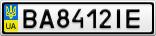 Номерной знак - BA8412IE