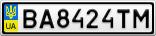 Номерной знак - BA8424TM