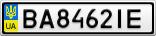 Номерной знак - BA8462IE