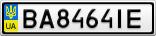 Номерной знак - BA8464IE