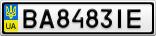 Номерной знак - BA8483IE