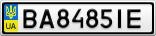 Номерной знак - BA8485IE