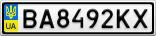 Номерной знак - BA8492KX