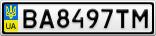 Номерной знак - BA8497TM