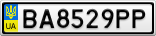 Номерной знак - BA8529PP
