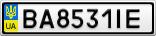 Номерной знак - BA8531IE