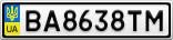 Номерной знак - BA8638TM