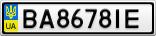 Номерной знак - BA8678IE