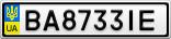 Номерной знак - BA8733IE