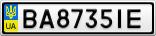 Номерной знак - BA8735IE