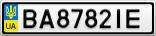 Номерной знак - BA8782IE