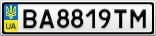 Номерной знак - BA8819TM