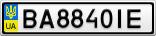 Номерной знак - BA8840IE