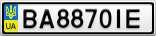 Номерной знак - BA8870IE