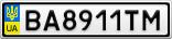 Номерной знак - BA8911TM