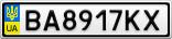 Номерной знак - BA8917KX