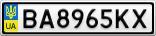 Номерной знак - BA8965KX