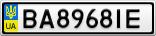 Номерной знак - BA8968IE