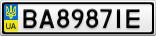 Номерной знак - BA8987IE