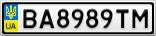 Номерной знак - BA8989TM