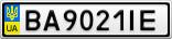 Номерной знак - BA9021IE