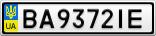Номерной знак - BA9372IE
