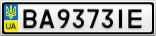 Номерной знак - BA9373IE
