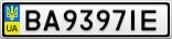 Номерной знак - BA9397IE