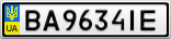 Номерной знак - BA9634IE