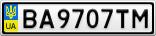 Номерной знак - BA9707TM