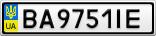 Номерной знак - BA9751IE