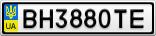 Номерной знак - BH3880TE