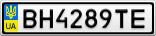 Номерной знак - BH4289TE