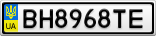 Номерной знак - BH8968TE